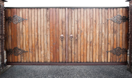 Electric Wooden Gate