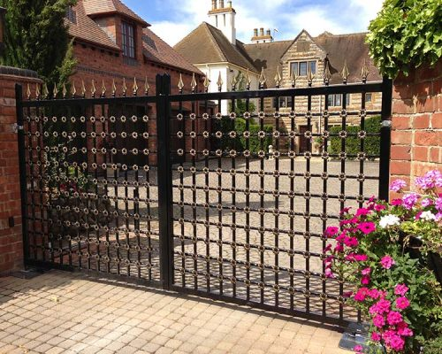 Floral Iron Driveway Gate