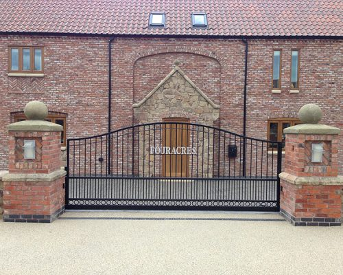 Four Acres Iron Driveway Gate