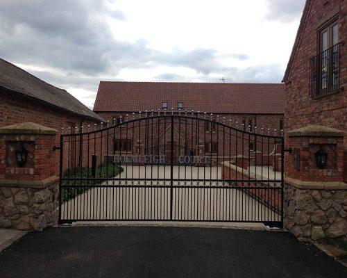 Holmleigh Court Iron Driveway Gate