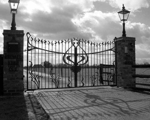 Wrought Iron Gate at Pink Palace
