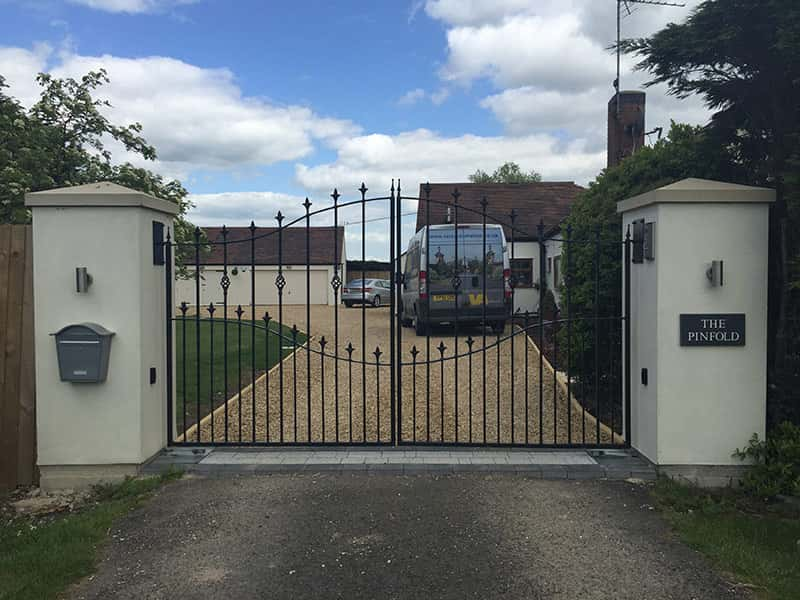 Metal Driveway Gate